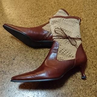 ブラウンショートブーツ 26センチ 美品(ブーツ)