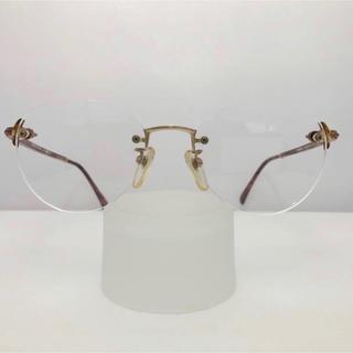 セルジオタッキーニ(Sergio Tacchini)のツーポイント 新品 伊達眼鏡にも レトロ 日本製 眼鏡 茶色 プラスチック(サングラス/メガネ)