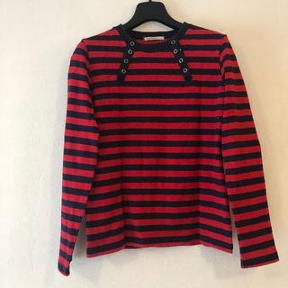 サブロク(SABUROKU)のSABUROKUの赤紺ボーダーシャツ(Tシャツ(長袖/七分))