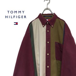 トミーヒルフィガー(TOMMY HILFIGER)のTOMMY HILFIGER トミーヒルフィガー 90s コットンシャツ(シャツ)