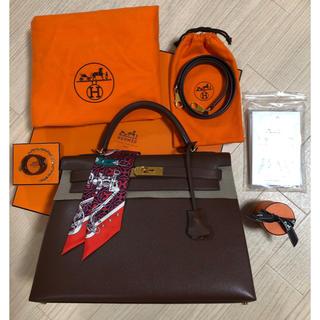 エルメス(Hermes)のエルメス ケリー32  外縫い 極美品!グローブホルダー・ツイリー付き♡正規品♡(ハンドバッグ)