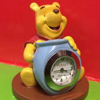 ディズニー(Disney)の希少!POPフィギュアクロック【くまのプーさん】 美品完動時計★Disny (置時計)