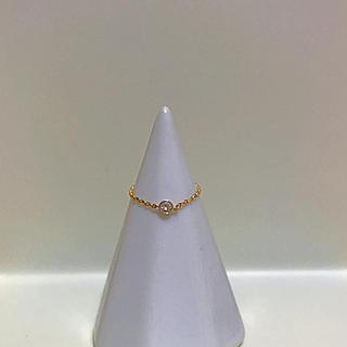 アーカー(AHKAH)の【最終】K18YG/Diamond 18金チェーンピンキーリング 4~5号(リング(指輪))