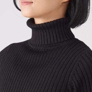 ムジルシリョウヒン(MUJI (無印良品))の◎最新◎無印良品首のチクチクをおさえたワイドリブ洗えるタートルネックセーター/M(ニット/セーター)