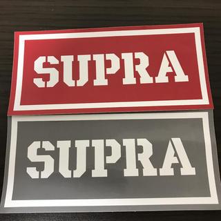 【縦7.1cm横15.3cm 】SUPRA ステッカー 二枚セット