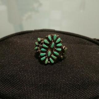 インディアンジュエリー ズニ族 ニードルポイントリング(リング(指輪))