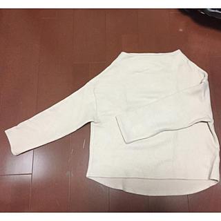 シェトワ(Chez toi)のシェトワ★ベビーピンクのボートネックセーター(ニット/セーター)