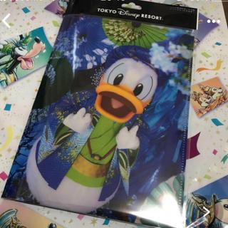 ディズニー(Disney)のイマジニング ドナルドデイジー ポストカード ダブルポケットホルダー(その他)