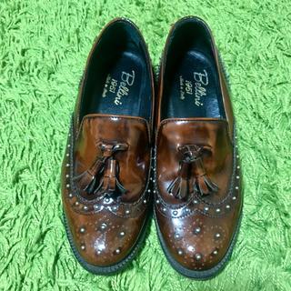 ディエゴベリーニ(DIEGO BELLINI)のディエゴベリーニ  スタッズ レザー ローファー(ローファー/革靴)