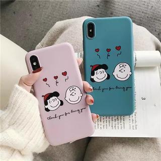 スヌーピー(SNOOPY)の新品◼️チャーリー&ルーシー スヌーピー  iPhoneケース(iPhoneケース)
