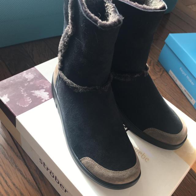 ストローバー ブーツ ボア ブラウン 新品 レディースの靴/シューズ(ブーツ)の商品写真