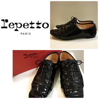 レペット(repetto)のrepetto♡ブラックエナメル オックスフォードシューズ♡(ローファー/革靴)