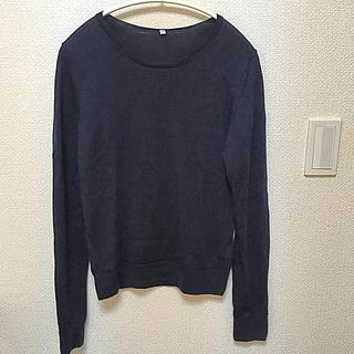 ムジルシリョウヒン(MUJI (無印良品))の無印 ネイビーニット(ニット/セーター)