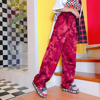 チャイナ刺繍パンツ(カジュアルパンツ)
