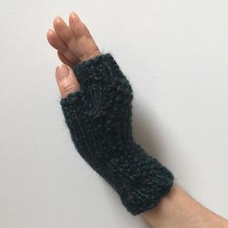 ハンドウォーマー(手編み)(手袋)