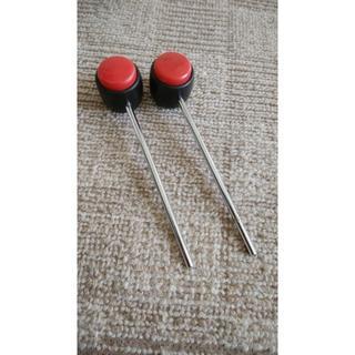 TAMA 古い樹脂ビーター ハードヒット 赤/黒で目立つ!(バスドラム)