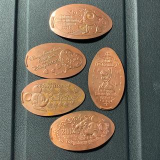 ディズニー(Disney)のディズニー 記念硬貨5枚まとめ売り(貨幣)