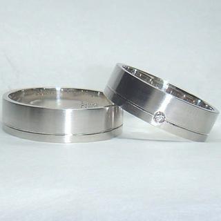 ★Pt1000(純プラチナ)マリッジリング(2本組み)(リング(指輪))