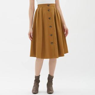 ジーユー(GU)のフロントボタンスカート(ひざ丈スカート)
