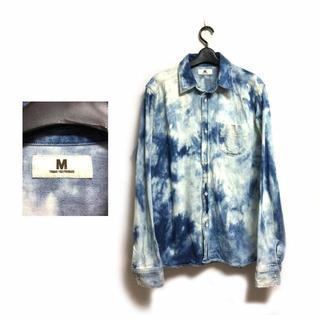 エム(M)の 【即決】国内正規品 M エム ブリーチ加工 デニムシャツ XL 日本製(シャツ)