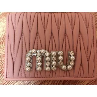 ミュウミュウ(miumiu)のミュウミュウ二つ折り財布(折り財布)