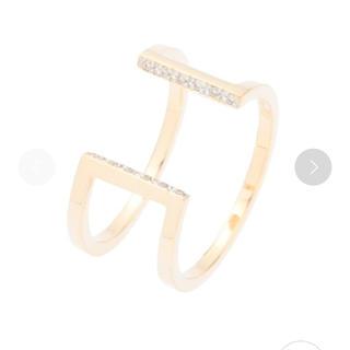 ココシュニック(COCOSHNIK)のココシュニック   新品 k10 ダイヤモンド 角形 スリットリング(リング(指輪))