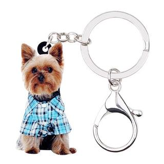 ヨークシャーテリア ヨーキー キーチェーンキーホルダー♪ 新品未使用品(001)(犬)