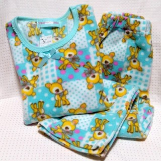 ハミングミント(ハミングミント)のハミングミント 120cm長袖フリースパジャマ タグ付き未使用(パジャマ)
