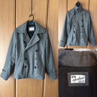 美品 UP START SINCE1987 HIGHEST GRAY Pコート
