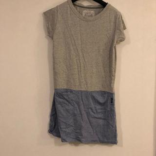 ゴーウエスト(GOWEST)の【交渉可】GOHEMPの半袖Tシャツミニワンピース(Tシャツ(半袖/袖なし))
