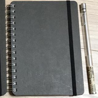 ムジルシリョウヒン(MUJI (無印良品))のA6ノートとボールペンのセット(ノート/メモ帳/ふせん)