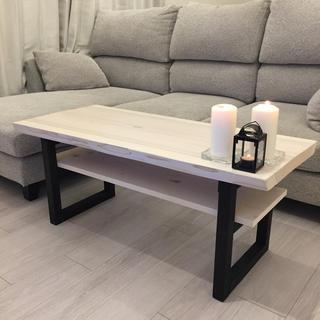 ☆ New 棚付きテーブル おしゃれ 組み立て不要 ☆(ローテーブル)