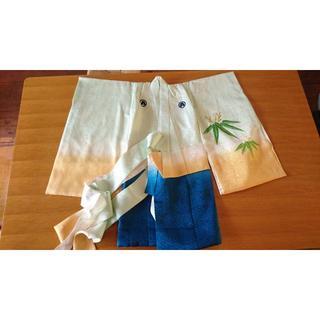 豪華 金糸いっぱいの刺繍 虎 比翼仕立て アンティーク (和服/着物)