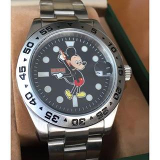 オーバーザストライプス(OVER THE STRIPES)のミッキー 腕時計 ビームス OVER THE STRIPES シルバー(腕時計(アナログ))
