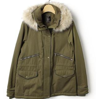ザラ(ZARA)の新品同様 ZARA TRF モッズコート  中綿コート XSサイズ(モッズコート)