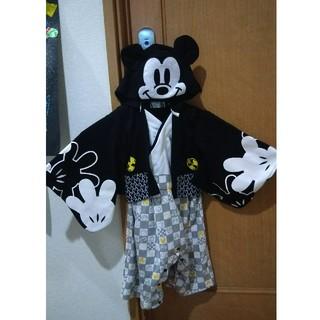 専用ページミッキーマウス袴90サイズロンパースタイプ(和服/着物)