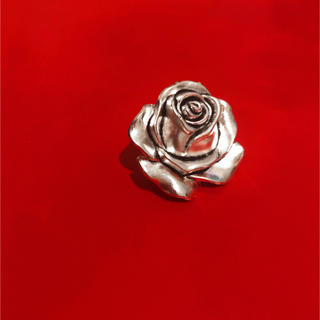 ♥️ Vintage Silver Big rose ring(リング)