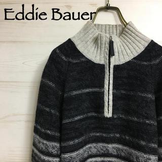 Eddie Bauer ハーフジップ グラデーションデザイン ニット