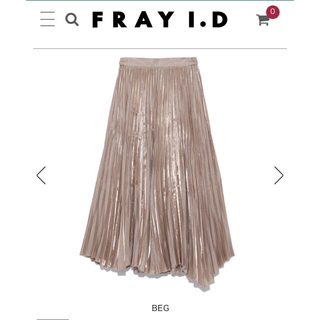 フレイアイディー(FRAY I.D)のFRAY I.D 新品タグ付 グロッシープリーツスカート(ロングスカート)