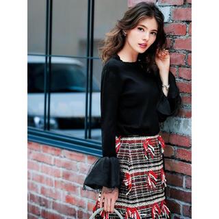 チェスティ(Chesty)の★新春SALE★ chesty チェスティ Fringe Tweed Skirt(ひざ丈スカート)