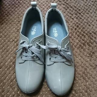 エナメルシューズ・22.5・靴・グレー・新品同様(その他)