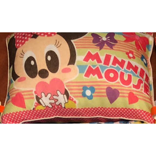 ディズニー(Disney)のディズニー 低反発チップ 子供枕 ミニー柄(枕)