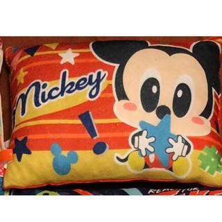 ディズニー(Disney)のディズニー 低反発チップ 子供枕 ミッキー柄(枕)