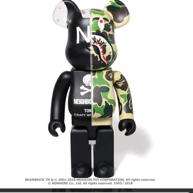 A BATHING APE(アベイシングエイプ)のNEIGHBORHOOD®A BATHING APE® ベアブリック1000% エンタメ/ホビーのおもちゃ/ぬいぐるみ(キャラクターグッズ)の商品写真