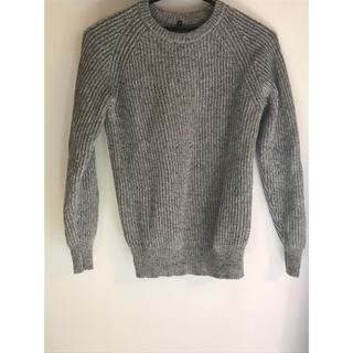 ムジルシリョウヒン(MUJI (無印良品))の無印良品 ニット グレー メンズ M 丸襟(ニット/セーター)