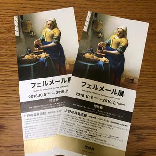フェルメール展 日時指定なし特別招待券ペア(美術館/博物館)