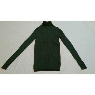 ムジルシリョウヒン(MUJI (無印良品))のタートルリブニットセーター お正月セール中(ニット/セーター)