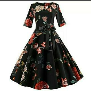 ●オードリーヘプバーン50s映画着用● リボン ワンピース ドレス