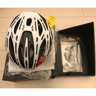 オージーケー(OGK)のOGK KABUTO FLAIR フレアー ヘルメット マットホワイト S/M(ウエア)