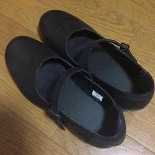 ムジルシリョウヒン(MUJI (無印良品))の無印良品 革ストラップシューズ 黒(ローファー/革靴)